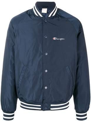 Champion logo bomber jacket