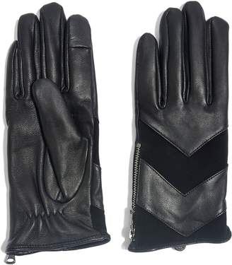 Topshop Leather Touchscreen Gloves