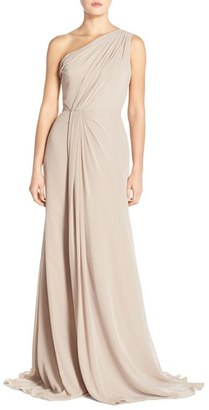 Women's Monique Lhuillier Bridesmaids One-Shoulder Chiffon Gown $298 thestylecure.com