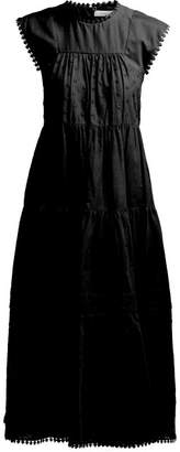 See by Chloe Tiered Cotton Voile Maxi Dress - Womens - Black