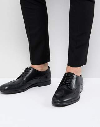 H By Hudson Aylesbury Leather Brogues In Black
