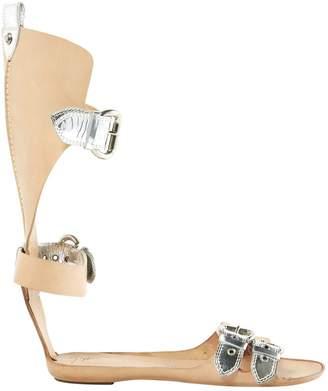 Giuseppe Zanotti Leather gladiator sandals.