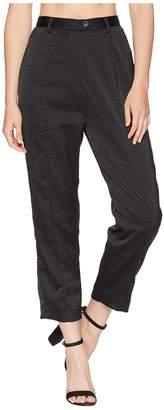 MinkPink Polka Dot Satin Tapered Pants Women's Casual Pants