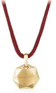 David Yurman DY Fortune 18K Yellow Gold Pendant Necklace - Black Gold