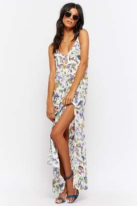 Forever 21 Butterfly Print Maxi Dress