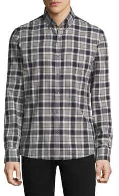 Michael Kors Edita Check Button-Down
