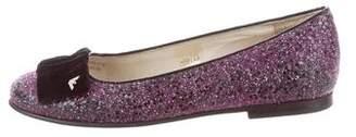 Armani Junior Girls' Glitter Ballet Flats