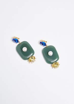 Marni Resin Square Drop Earrings