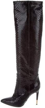 Tom Ford Python Knee-High Boots