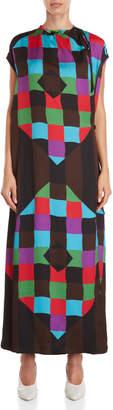 Ter Et Bantine Geometric Belted Wrap Dress