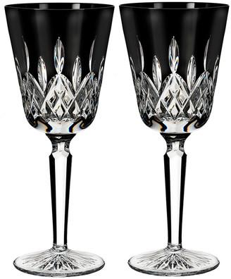 Waterford Lismore Black Wine Goblets