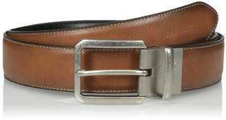 Tommy Hilfiger Men's 35 mm Feather Edge Reversible with Stitch Belt