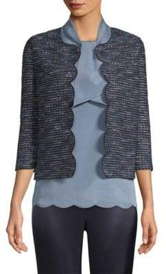 St. John Cropped Tweed Blazer