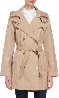 Tommy Hilfiger Hooded Double-Breasted Trench Coat