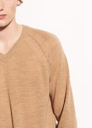 Seamed Wool V-neck