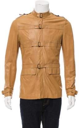 Bottega Veneta Leather Cargo Jacket