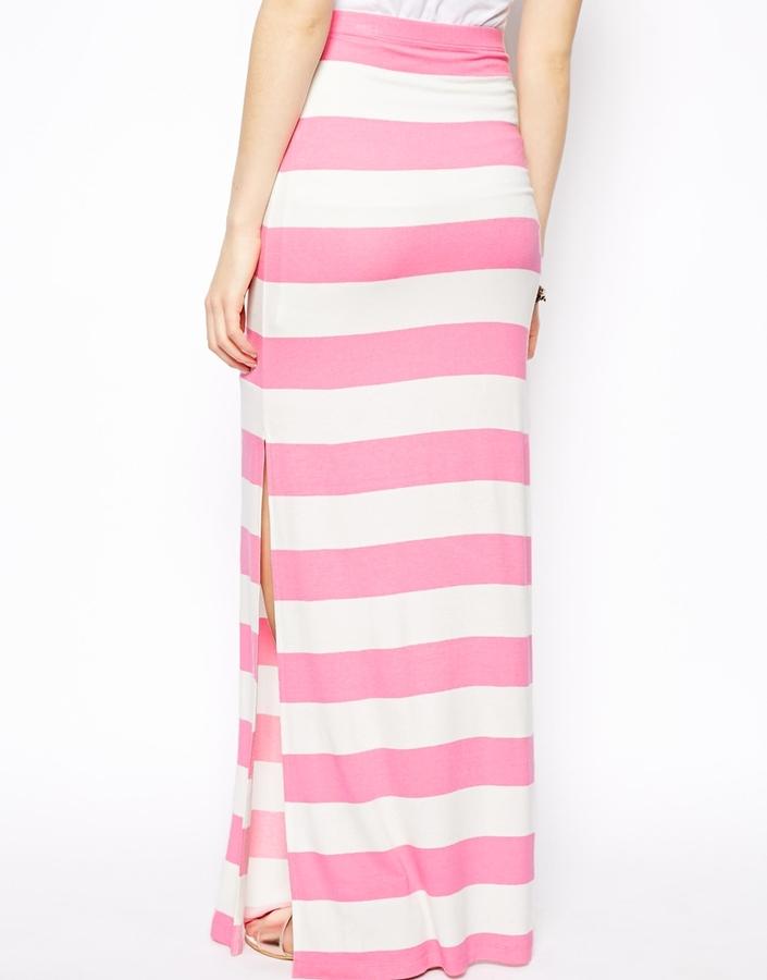 Asos Maxi Skirt In Stripe