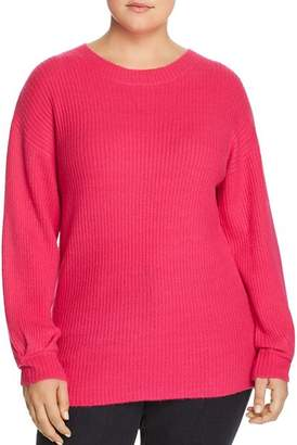 Glamorous CURVY Ribbed Pleat-Cuff Sweater