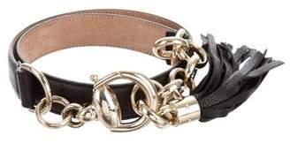 Gucci Leather Tassel Waist Belt
