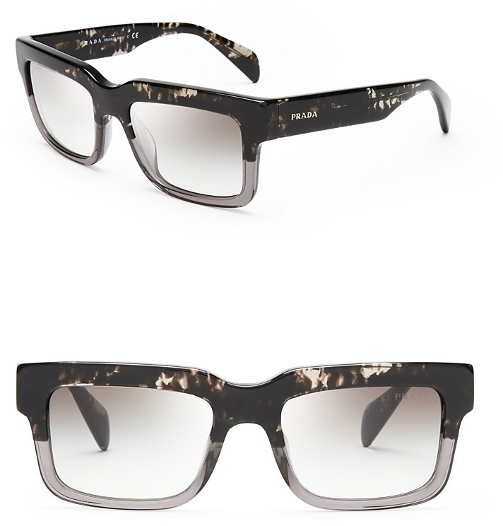Prada Spotted Square Sunglasses