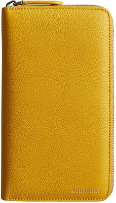Burberry Grainy Leather Ziparound Wallet