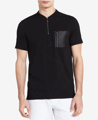 Calvin Klein Men's Zip-Collar Polo Shirt $69.50 thestylecure.com