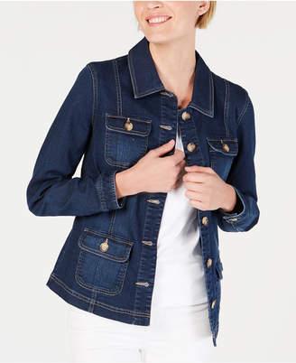 Charter Club 4-Pocket Denim Jacket