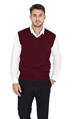 Cashmeren Men's 100% Pure Cashmere Classic Knit Soft Regular Fit Casual Pullover Sweater Vest (