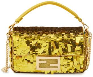 Fendi Baguette sequinned hand bag