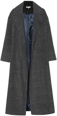 Ganni Woodside checked wool-blend coat