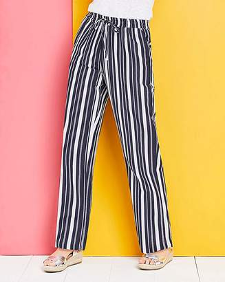 Fashion World Pet Essential Stripe Linen Mix Trousers