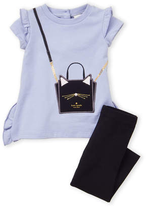 2ba65045e Kate Spade Toddler Girls) Two-Piece Cat Handbag Top & Leggings Set
