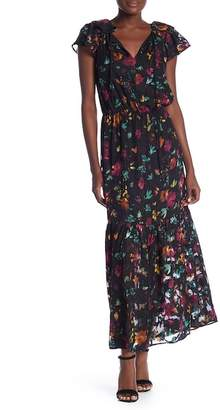 ECI Short Ruffle Floral Print Dress