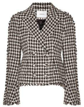 Erdem Marsha Double-Breasted Metallic Cotton-Blend Tweed Jacket