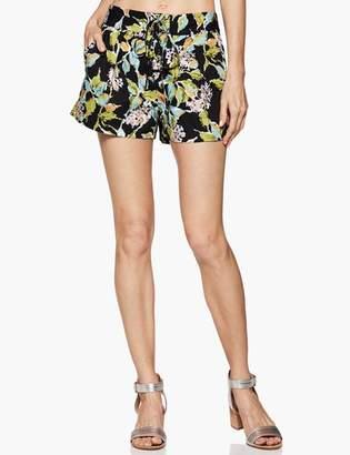 Paige Khala Short - Black Multi Kona Floral