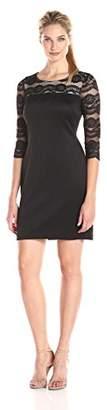 Jessica Howard Women's Illusion Neck Sheath Dress $17.74 thestylecure.com