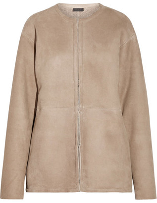 J.Crew - Collection Luna Shearling Coat - Mushroom $895 thestylecure.com
