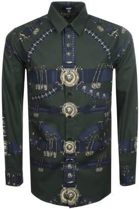 Versace Printed Shirt Khaki