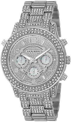 Akribos XXIV Womens Silver Tone Strap Watch-A-776ss