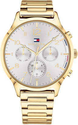 Tommy Hilfiger Women's Emmy Gold-Tone Metal Bracelet Watch 38mm, Created for Macy's