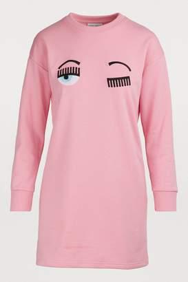 Chiara Ferragni Flirting long-sleeved sweatshirt dress