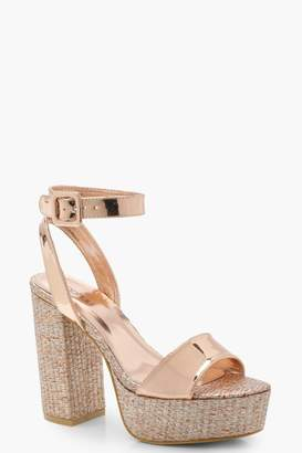 boohoo Matilda Diamante Platform Two Parts