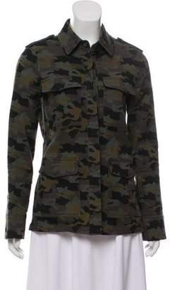 L'Agence Camouflage Denim Jacket