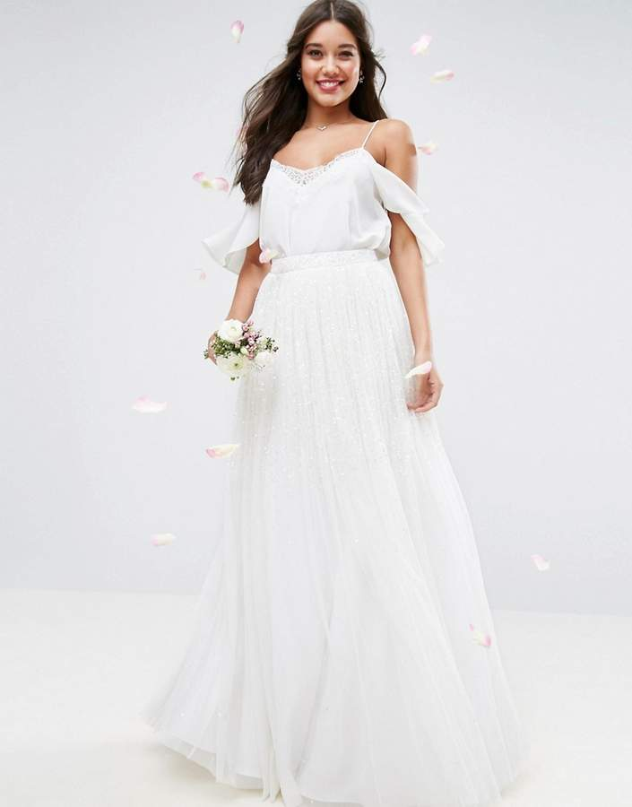 Asos wedding embellished maxi tulle skirt for How to clean your own wedding dress