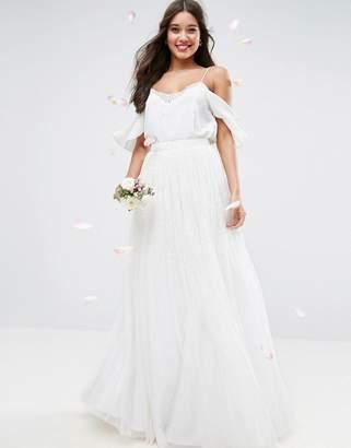 Asos Wedding Embellished Maxi Tulle Skirt