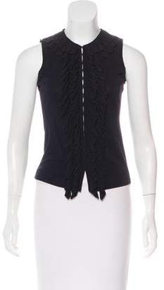 DKNY Ruffled Sleeveless Top