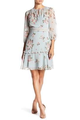 Donna Morgan Floral Print Chiffon Dress