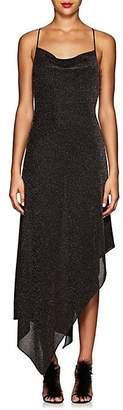Juan Carlos Obando Women's Metallic Asymmetric Cowlneck Dress - Bronze