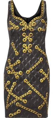 Moschino Printed Cotton-Blend Mini Dress