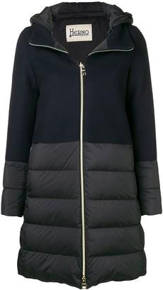 Herno knit upper padded jacket